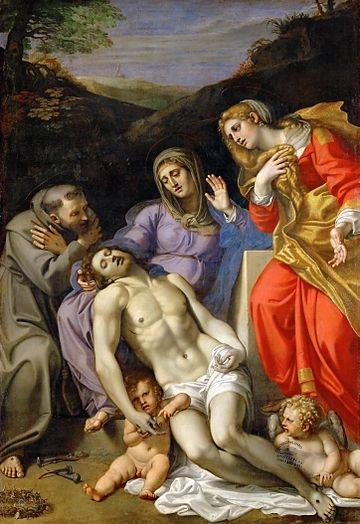 Annibale Carracci, Pietà con San Francesco e Maria Maddalena, Museo del Louvre, Parigi