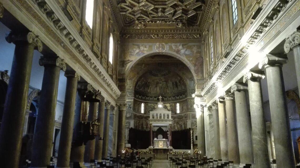 Le colonne della vendetta di Santa Maria in Trastevere
