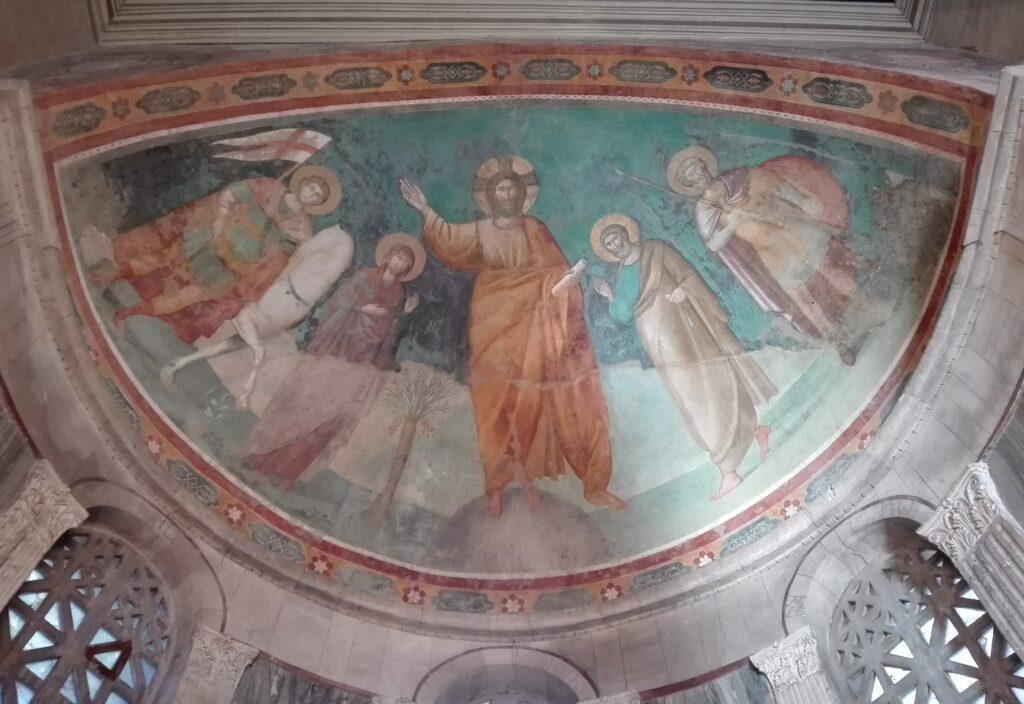 Affresco absidale, attribuito a Cavallini, Chiesa di San Giorgio al Velabro, Roma