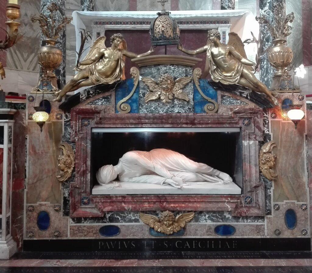 Stefano Madreno, Santa Cecilia, 1599, basilica di Santa Cecilia, Roma