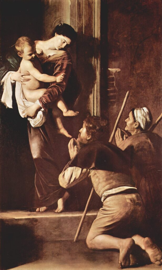 Caravaggio, Madonna dei Pellegrini, 1604-1606, basilica di Sant'Agostino, Roma