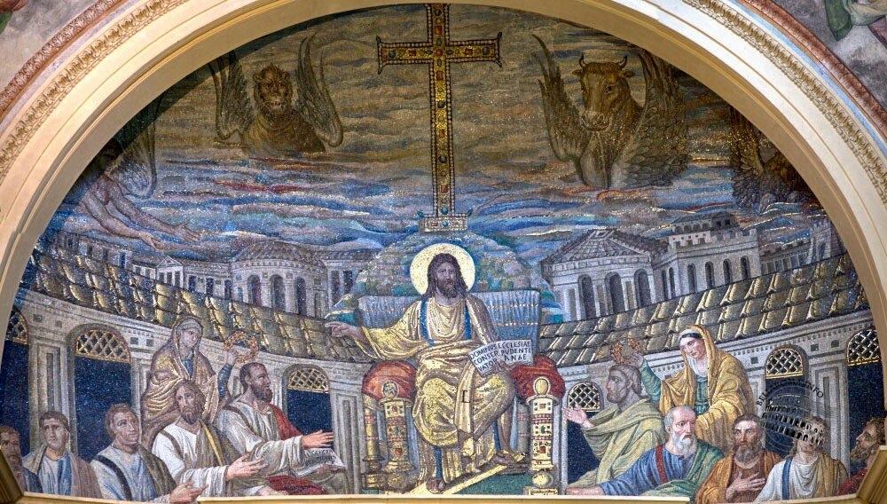 Mosaico absidale, basilica di Santa Pudenziana, Roma