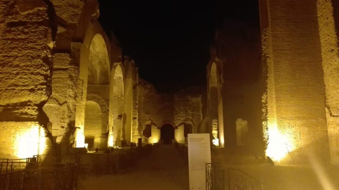 Terme di Caracalla by night