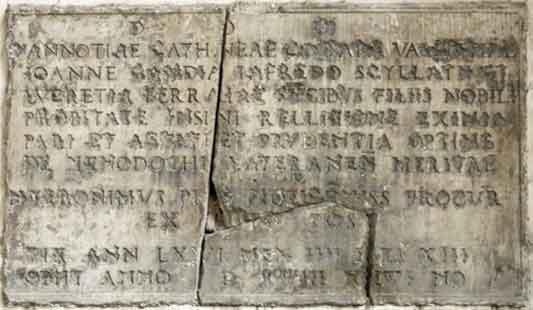Cosa ci fa l'epigrafe di Vannozza Cattanei nella basilica di San Marco Evangelista?