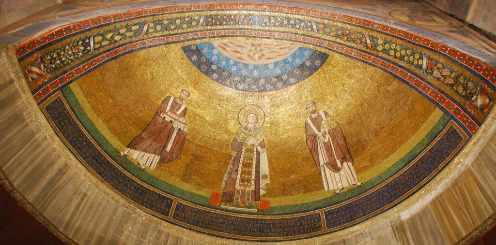Mosaico absidale del VII sec.