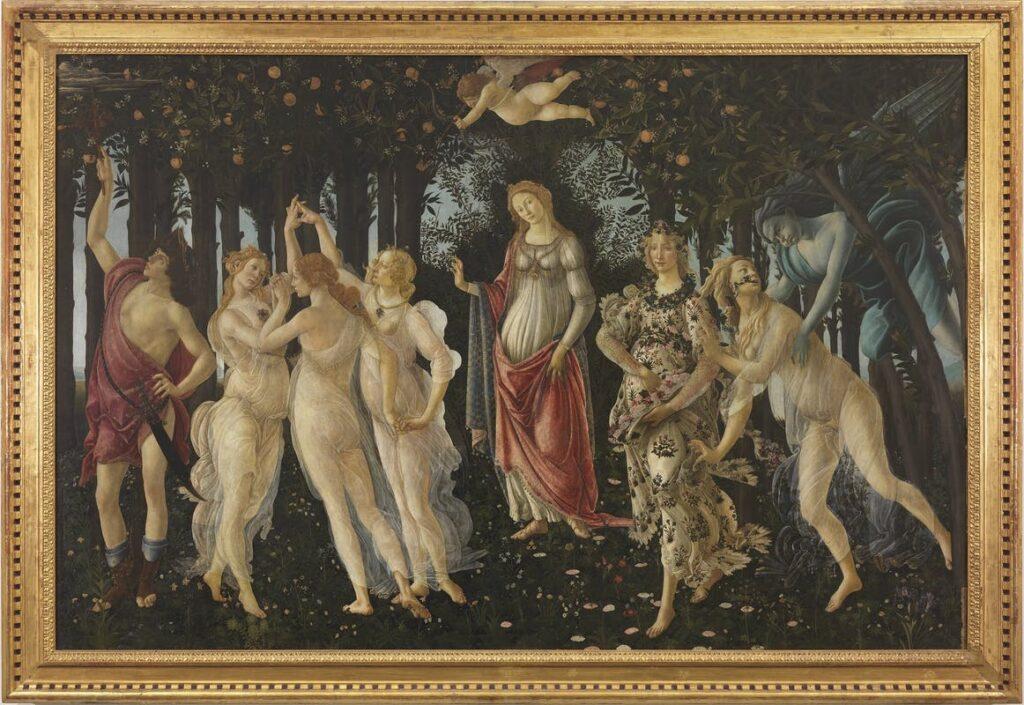 Sandro Botticelli, La Primavera, 1480 ca., Galleria degli Uffizi, Firenze