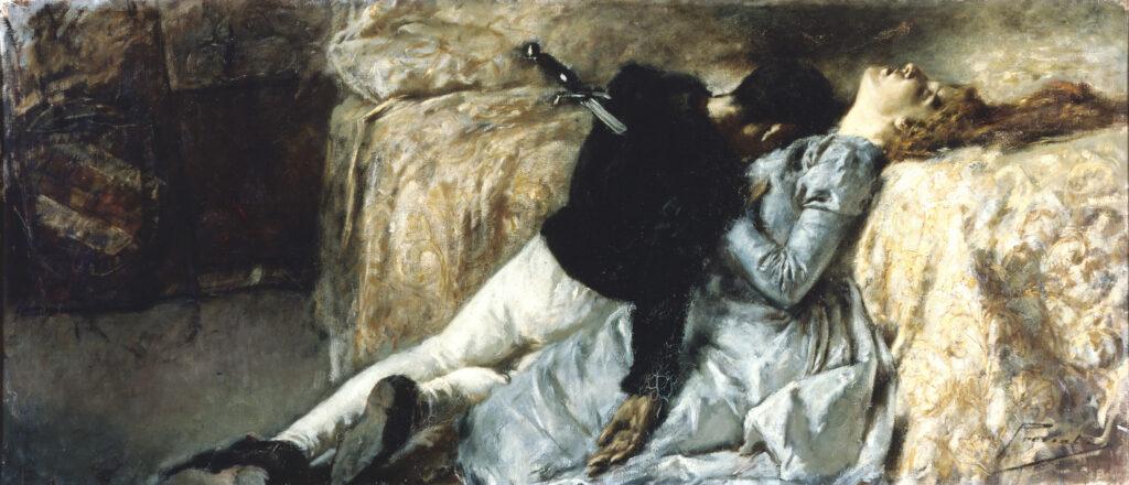 aetano Previati, Paolo e Francesca, 1887, Accademia Carrara, Bergamo