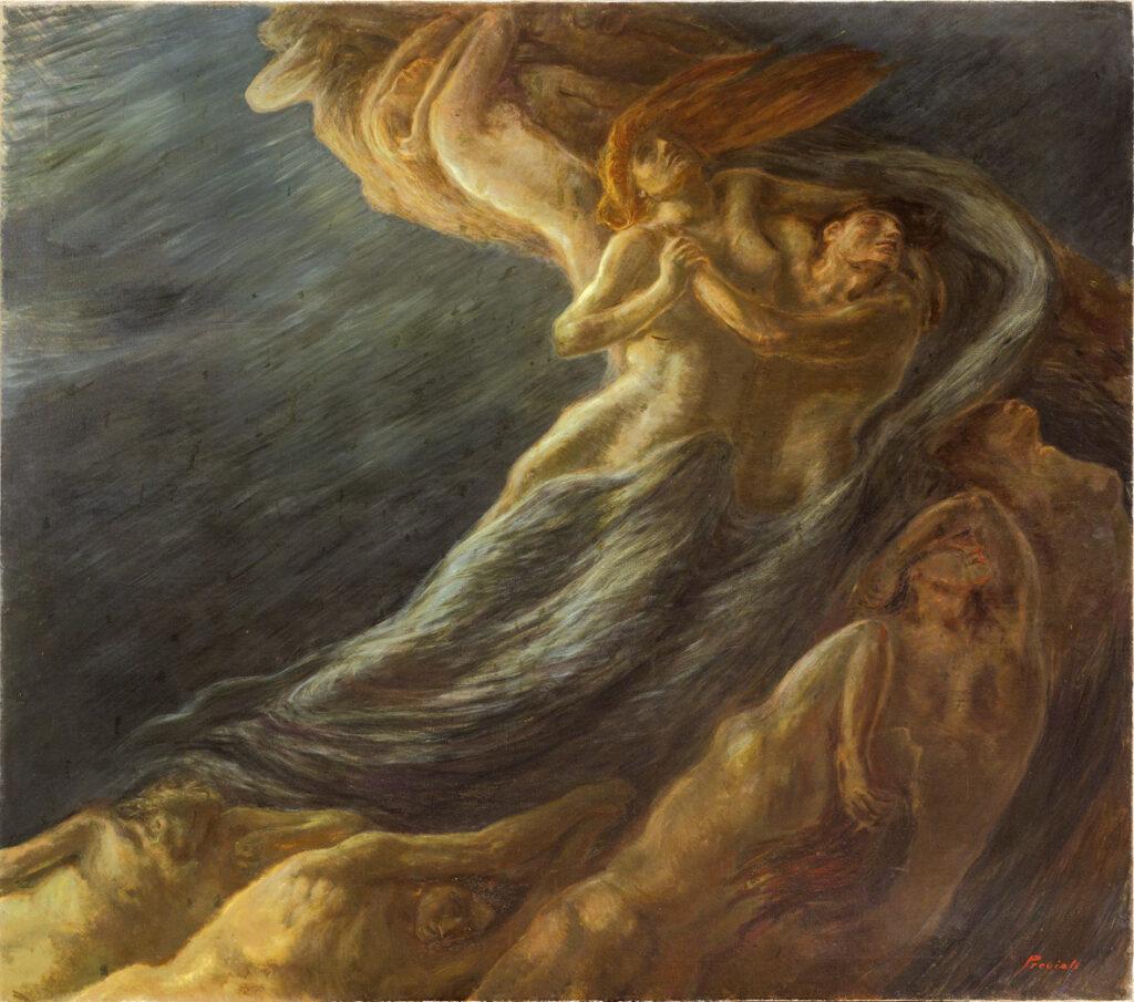 Gaetano Previati, Paolo e Francesca, 1909, Museo dell'Ottocento, Ferrara