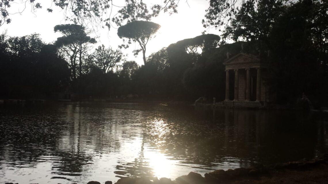 Tramonto al laghetto di Villa Borghese